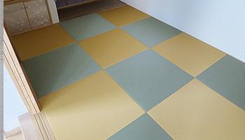 カラー樹脂素材のへりなし畳|株式会社田島製畳所 田島たたみ