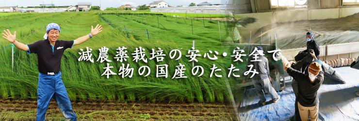 減農薬栽培の安心、安全で本物の国産たたみ|株式会社田島製畳所 田島たたみ